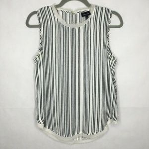 Who What Wear Striped Career Tank Top Fringe Raw